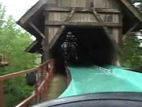 The classic log flume ride that can be found at Busch Gardens Europe in Williamsburg, Virginia.