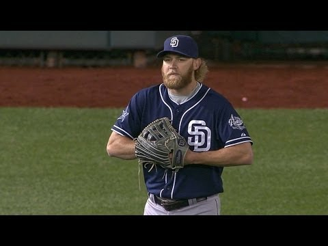 SD@WSH: Cashner plays left field for one batter