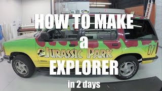 How to make a Jurassic Park Explorer in 2 DAYS