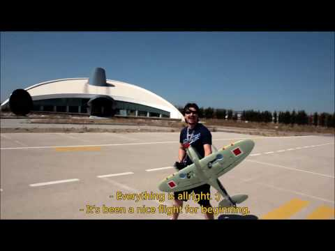 My first RC flight ever with Dynam Spitfire 1200mm (Its also the maiden flight of my spitfire)