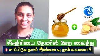 இஞ்சியை தேனில் ஊற வைத்து சாப்பிடுவதால் இவ்வளவு நன்மைகளா?! Eating Ginger Soaked In Honey - Tamil TV