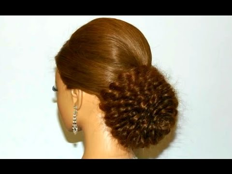 Wedding hairstyles for long hair. Bridal updo. Rose bun.
