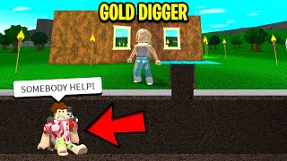 This GOLD DIGGER Trapped Me.. DEMANDED For Robux Or I Couldn't Leave.. (Roblox)