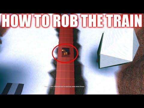 ROBLOX JAILBREAK HOW TO ROB THE TRAIN! [NEW]