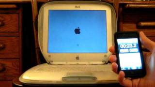 Apple iBook G3 booting from a CompactFlash SSD drive