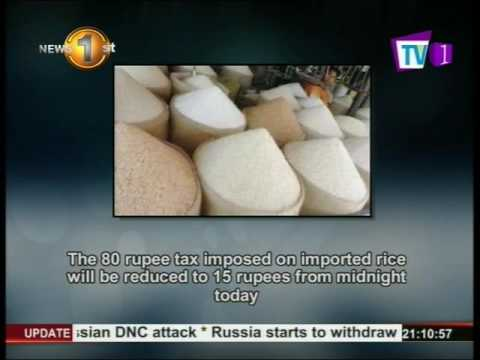 tax on imported rice|eng