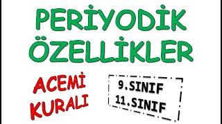 ACEMİ ( PERİYODİK TABLO) #YKS #TYT