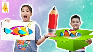 Colors Animals!Kids Paint Colors and Teach Alphabet Animals Song For Children Vlad IRL