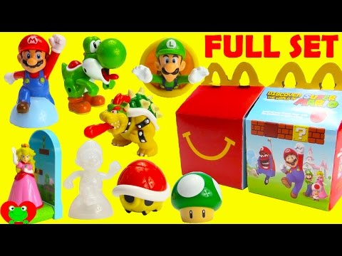 2017 Super Mario McDonald's Happy Meal Toys Full Set