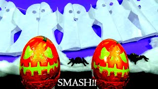 HALLOWEEN SMASH  Kinder Surprise Eggs