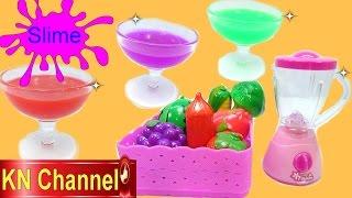 Đồ chơi trẻ em Chất nhờn ma quái Slime & Búp bê công chúa & Máy xay sinh tố princess Doll Kids toy