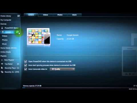 CyberLink PowerDVD 13 Ultra - Tutorial - Sync Media and Enjoy On-the-Go