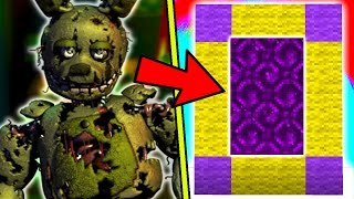 HOW TO MAKE A PORTAL TO THE SCARY FNAF 3 DIMENSION - MINECRAFT FNAF