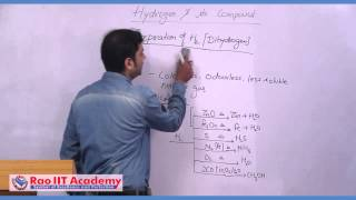 Preparation & Properties of Hydrogen - IIT JEE Main and Advanced Chemistry Video Lecture