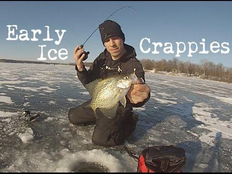 Minnesota Ice Fishing - Early Ice Crappies 2014