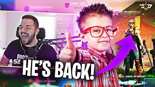 THE RETURN OF DR. WUBBLEKINS! BEST KID FORTNITE PLAYER IN THE WORLD! (Fortnite: Battle Royale)
