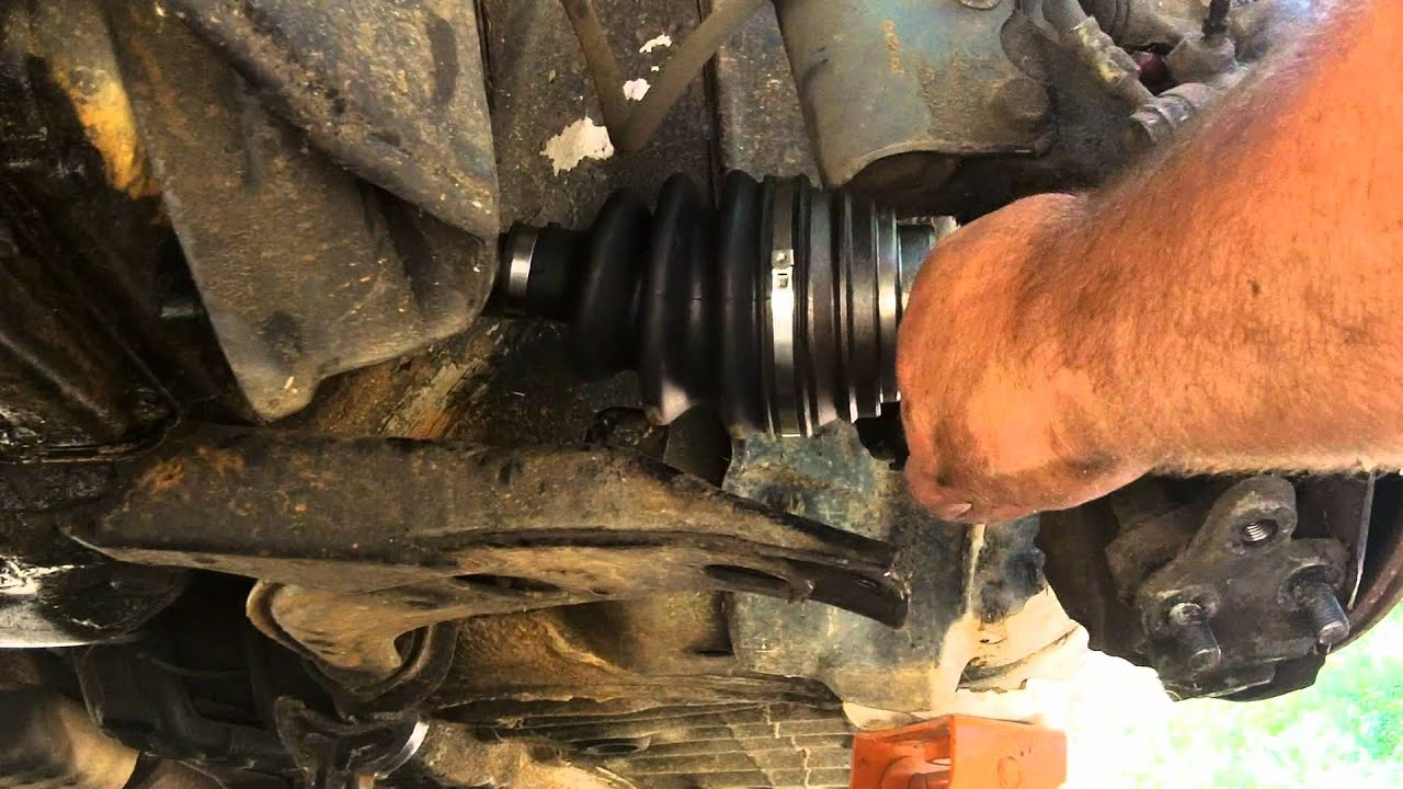 Front Wheel Drive Axle Replacement Youtube