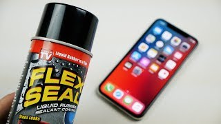 What Happens If You Spray Flex Seal on iPhone X + Drop Test From 100 FT?