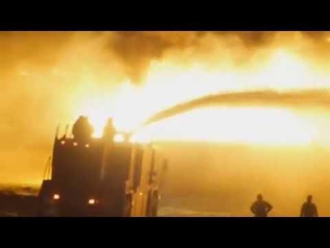 Taliban insurgents set 400 oil tankers ablaze in Kabul Afghanistan