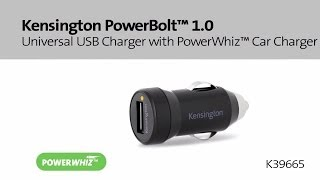 Kensington PowerBolt 1.0 Universal USB Charger with PowerWhiz Car Charger