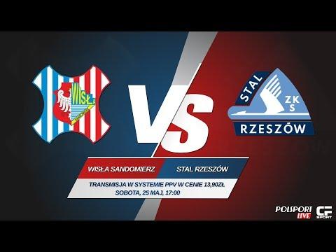 Skrót meczu: Wisła Sandomierz - Stal Rzeszów 25.05.2019
