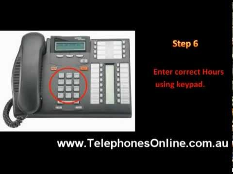 change Time Guide for Nortel T7316E Phone, Commander Telephone T7316
