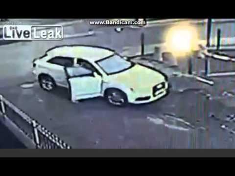 Attempted Car Theft - Old Lady Fights Back and WINS!