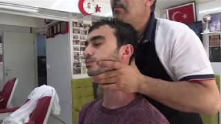 ASMR Turkish Barber by Münür Önkan Bubble Face Cleaning,Face,Head,Neck,Back,Arm Massage