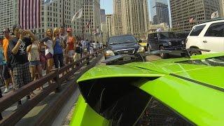 Lamborghini Murcielago Loud Exhaust GoPro Peoples Reaction in Chicago
