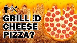 Grilled Cheese Sandwich Pizza Bowl Thingy ? - Man Vs Din