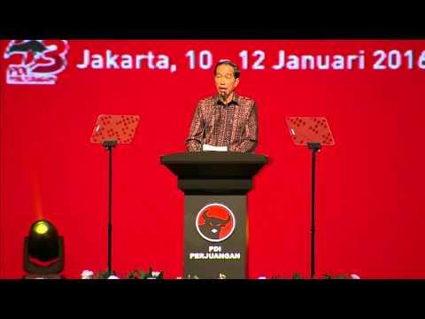 Pidato Presiden Joko Widodo di Rakernas PDIP 2016