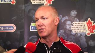 2012 Tim Hortons Brier Draw 13 Media Scrum