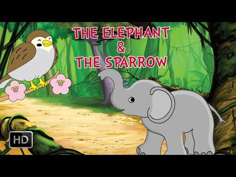 Panchatantra Tales - The Elephant & The Sparrow - Short Stories For Kids - Animated cartoon Stories video