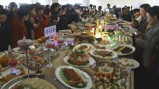 平壌で料理コンテスト