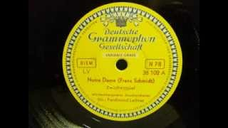 Franz Schmidt - Notre Dame - Schellackplatte der Deutsche Grammophon Gesellschaft