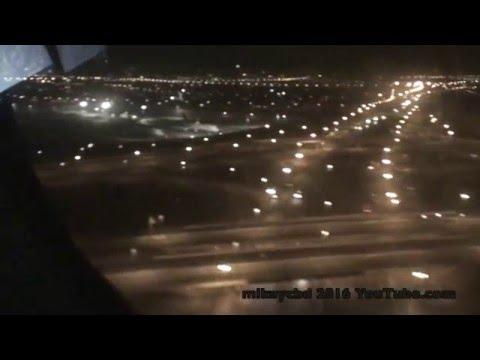 Dreamliner Royal Brunei LHR to DXB night time landing Dubai 24 April 2016 plus lounge