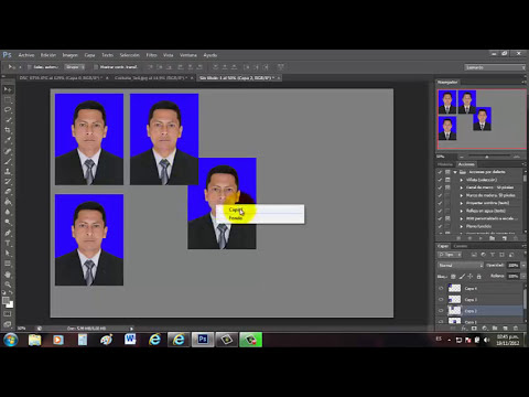 Foto para documentos en photoshop