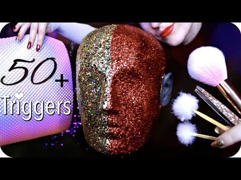 ASMR 50+ Triggers over 3 Hours (NO TALKING) Ear Cleaning, Massage, Tapping, Peeling, Umbrella & MORE