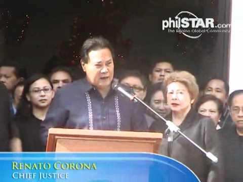 philstar.com video: CJ Corona: Noy slowly creating a dictatorship (1st of 2 parts)