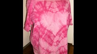 How to Bleach Tie Dye a Heart Shirt