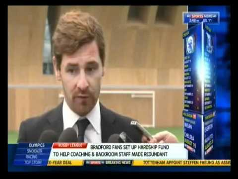 Andre Villas-Boas first press interview at Spurs