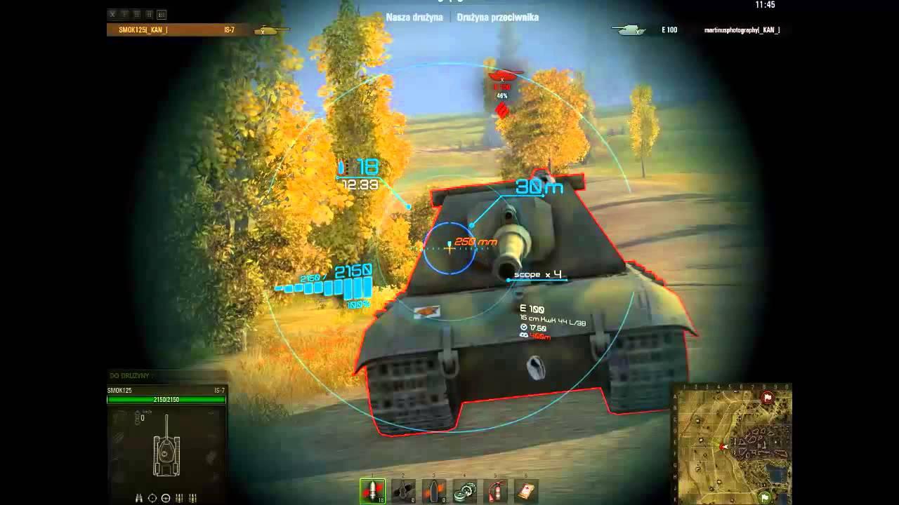 WOTINFO  Weak points of JagdPz E100
