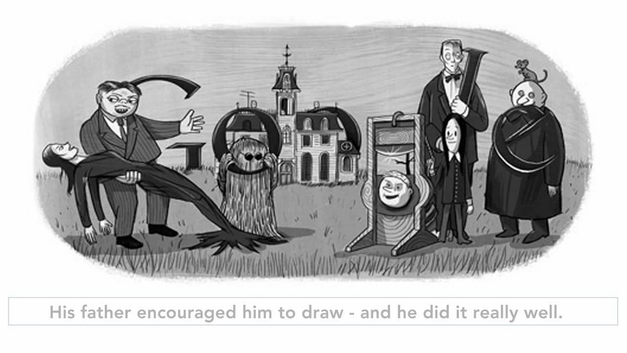 Charles Addams Drawings Charles Addams Google Doodle