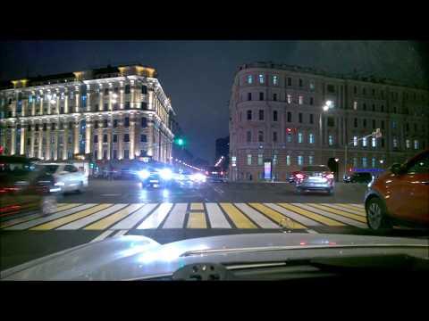 Driving in Moscow Ночная Москва октябрь 2017
