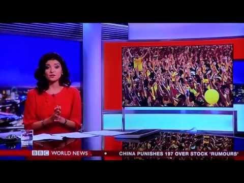 BBC World News reports that BERSIH 4 ended peacefully