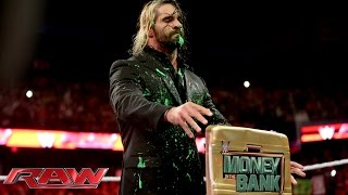 Dean Ambrose plays a messy prank on Seth Rollins: Raw, Sept. 29, 2014