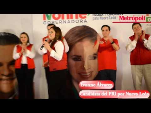 Ivonne Álvarez presente en Cadereyta