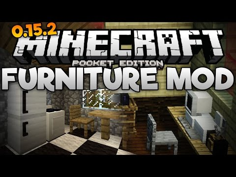 FURNITURE & DECORATIONS in MCPE!!! - The Furniture Mod for 0.15.2+ - Minecraft PE (Pocket Edition)