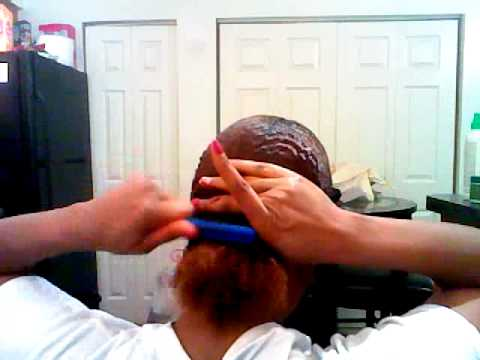 PREPARING MY HAIR FOR GLUE IN INVISABLE PART WEAVE PT1