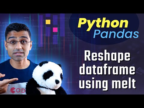 Python Pandas Tutorial 11. Reshape dataframe using melt